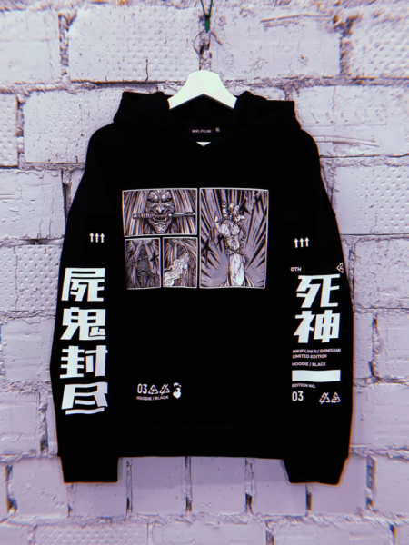 HOODIE EMBROIDERED «SHINIGAMI»
